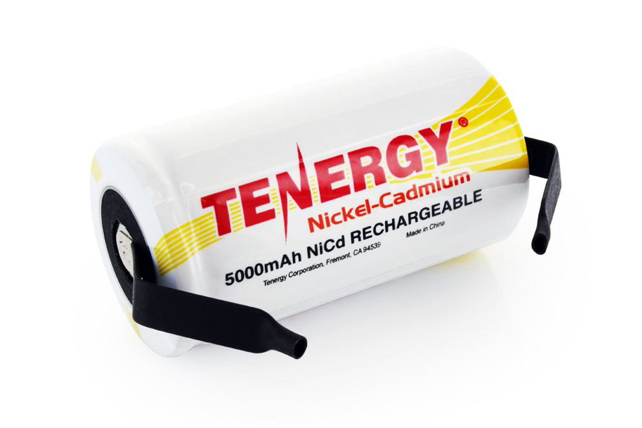 Tenergy D 5000mAh NiCd Flat Top Rechargeable Battery (for pack making)