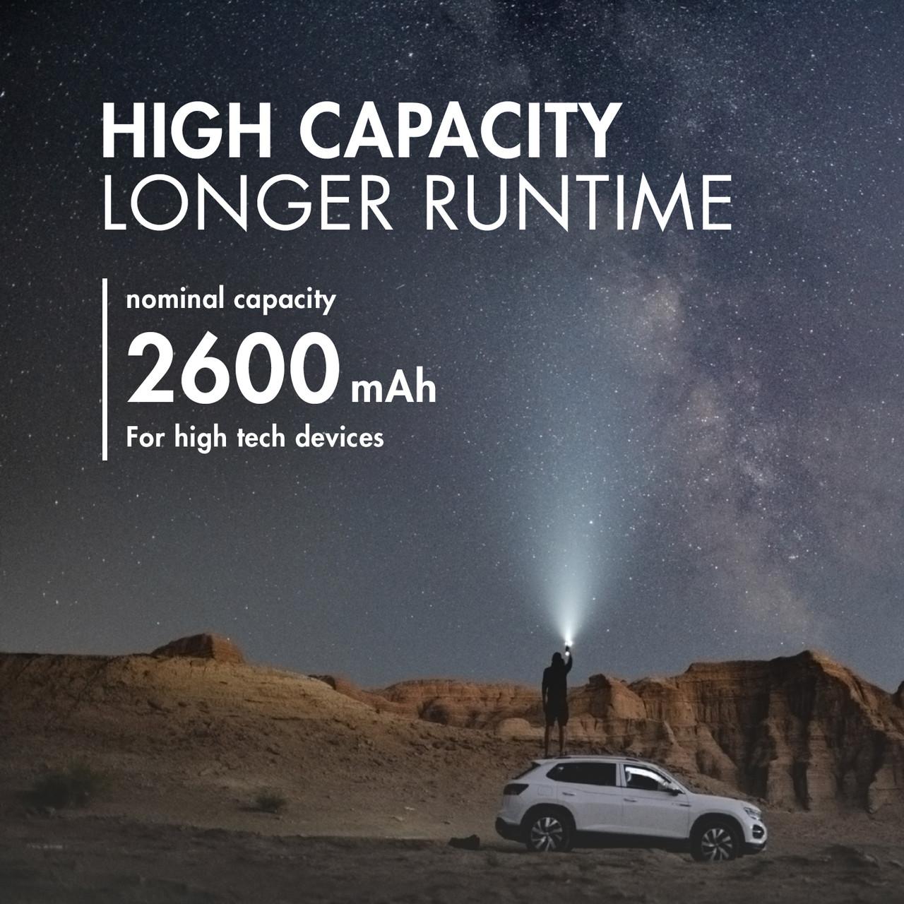 Tenergy Li-ion 18650 Cylindrical 3.7V 2600mAh Flat Top Rechargeable Battery w/ PCB