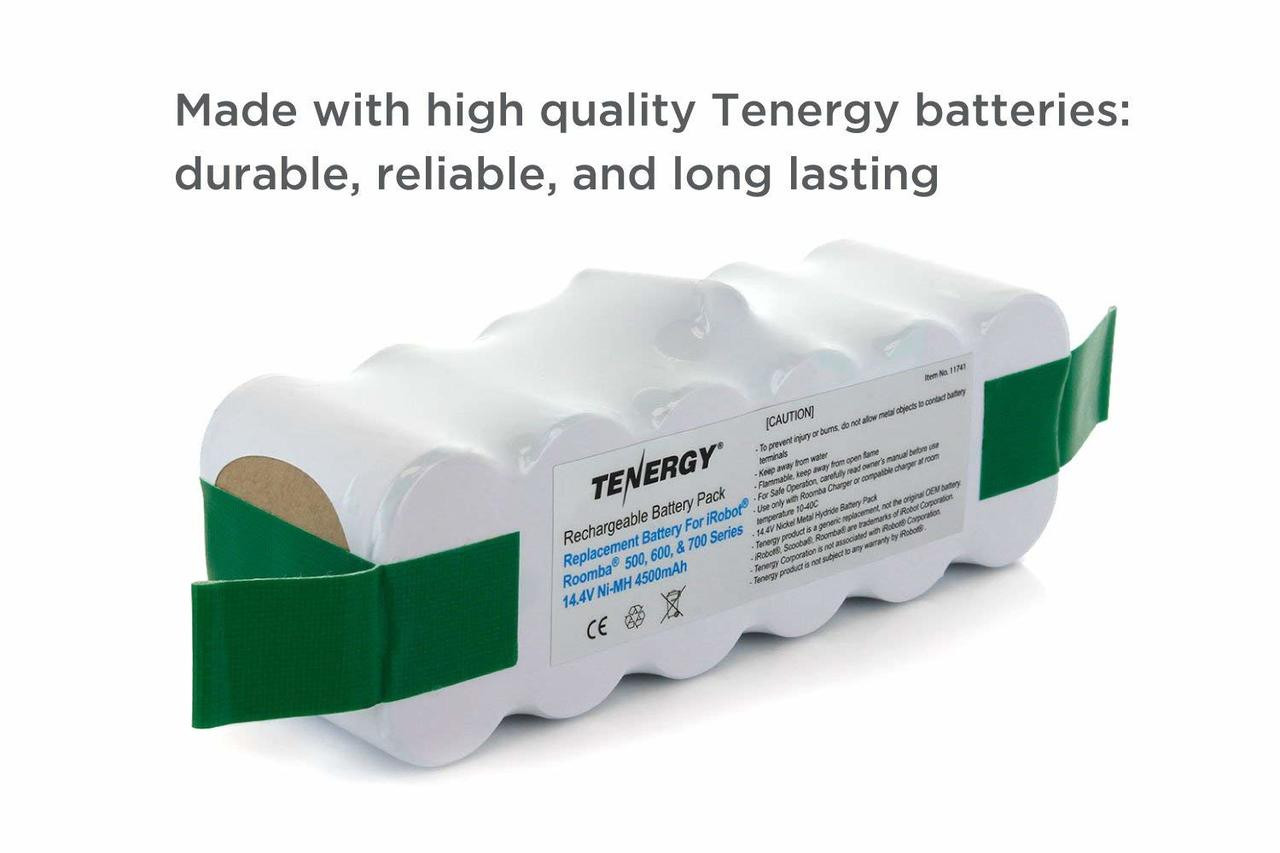 Tenergy New High Capacity 4500mAh NiMH replacement battery for iRobot Roomba 500 510 530 532 535 536 540