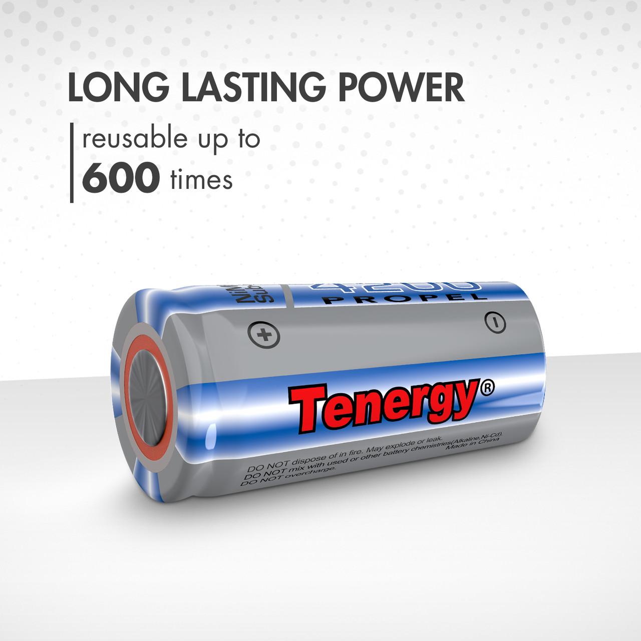 Tenergy Propel Sub C 4200mAh NiMH Flat Top Rechargeable Battery
