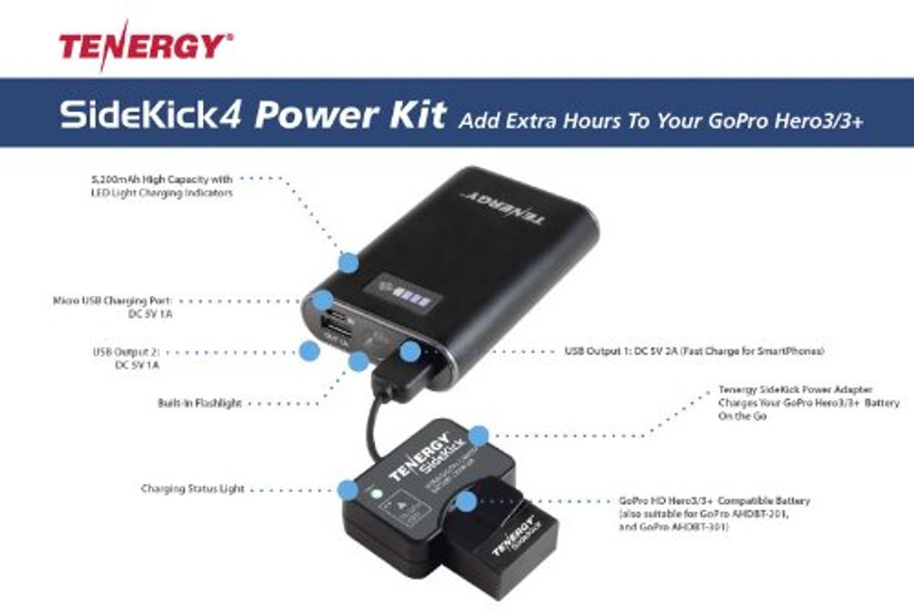 Tenergy SK4 5,200mAh Mobile External Charger / Power Bank + Bonus Accessories