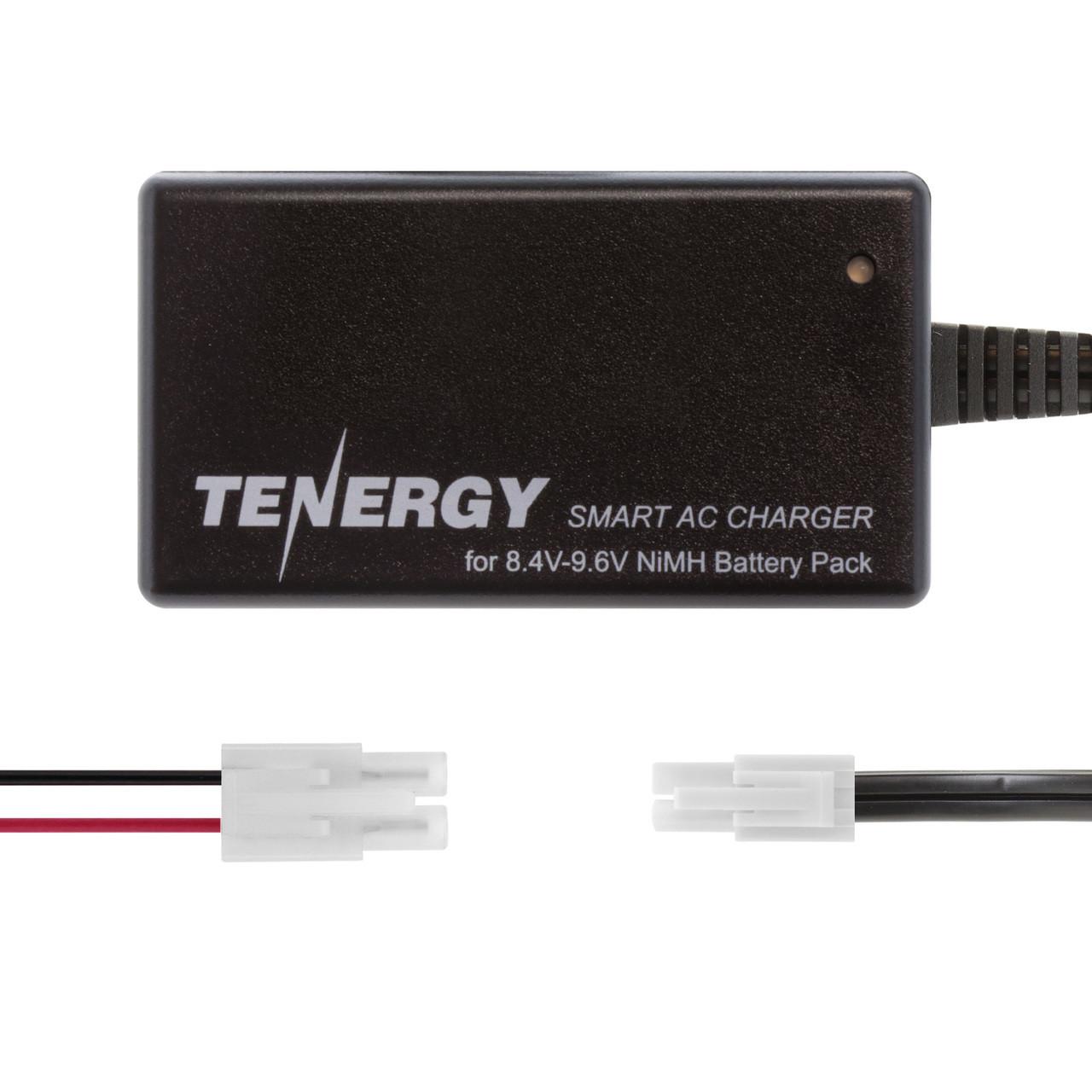 Tenergy Smart Charger for 8.4V-9.6V NiMH Airsoft & RC Battery Packs w/ Mini Tamiya Connector + Standard Tamiya Adapter