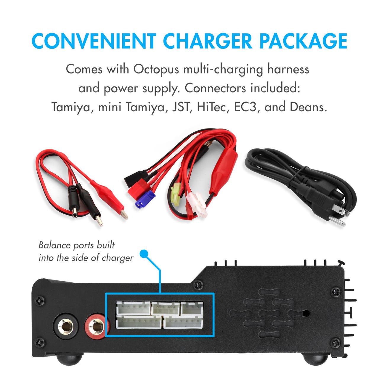 Tenergy TB6AC+80W 8A Intelligent Digital Balance Charger for NiMH/NiCd/LiPo/Li-Fe/SLA