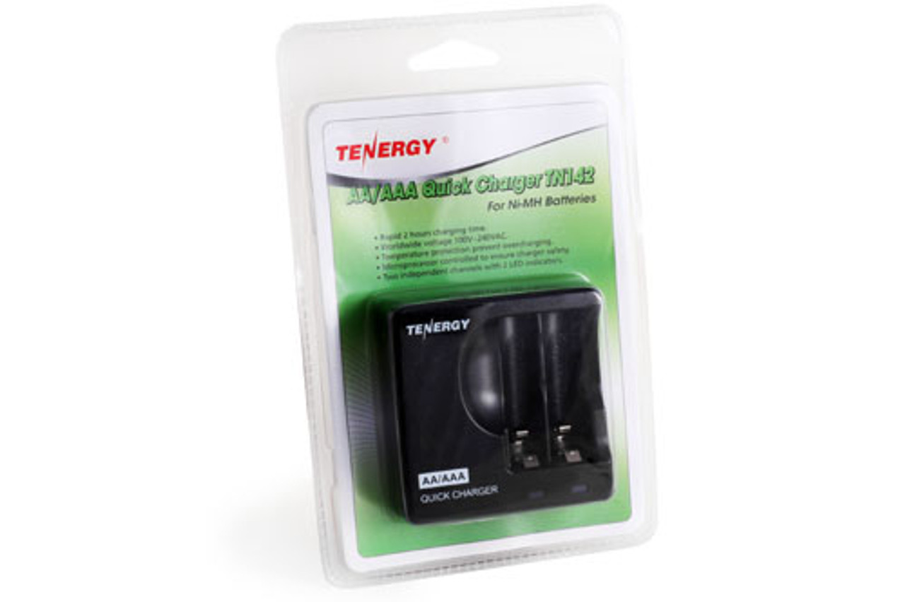 Tenergy TN142 2-Channels NiMH AA/AAA Quick Charger