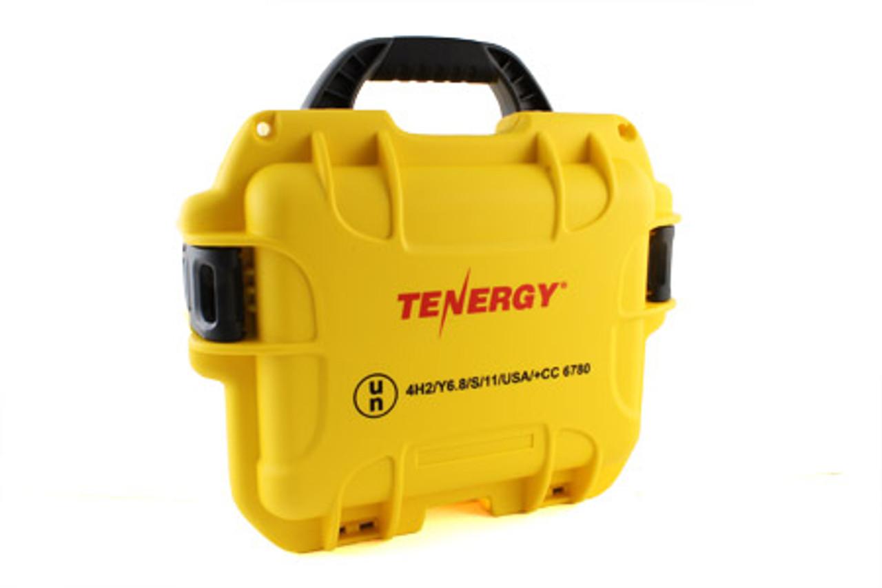 Tenergy Waterproof Battery Case- Yellow