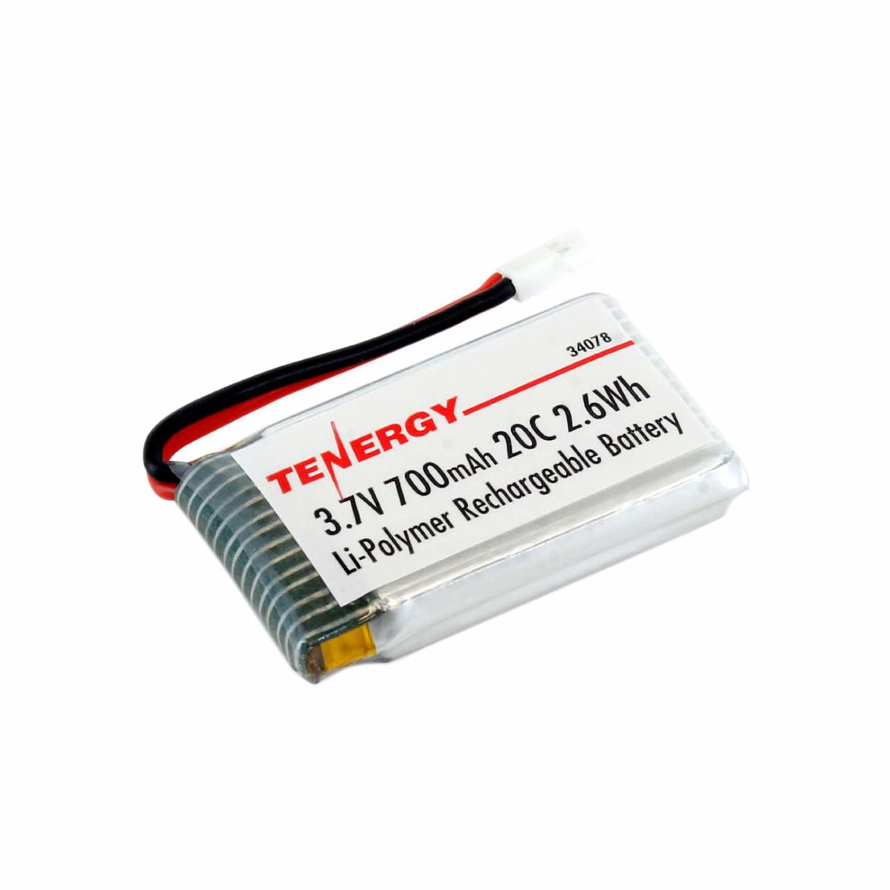 3.7V 700mAh LiPo Battery Pack (Compatible with Syma X5, X5C, X5SC, X5SW and Cheerson CX-30W)