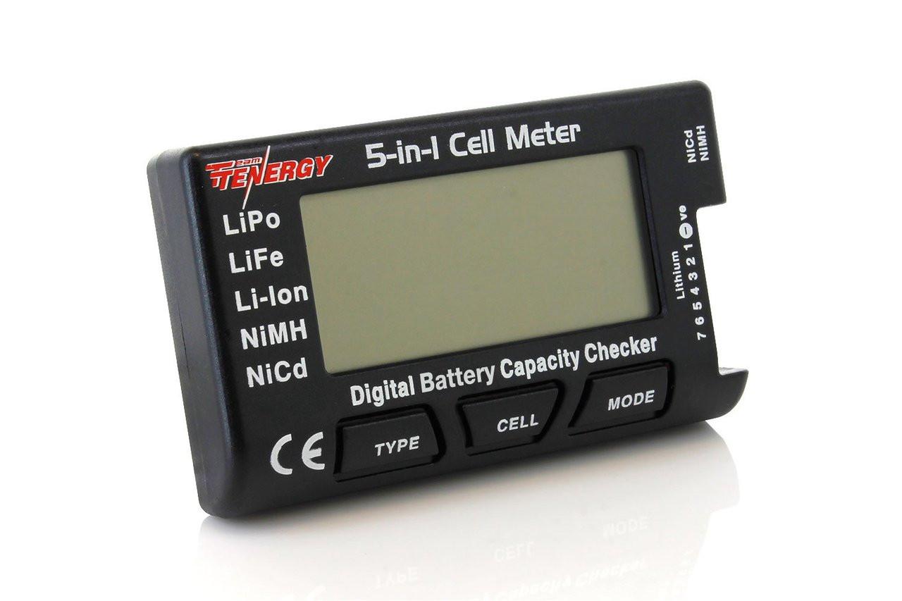 Tenergy 5-in-1 Intelligent Cell Meter (Capacity Checker, Battery Balancer, Battery Discharger, Internal