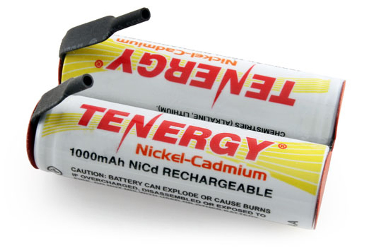 AT: Tenergy NiCd 2.4V 1000mAh Rechargeable Battery Pack for Electric Shaver (2S1P, 2.4Wh, 0.8A Rate)