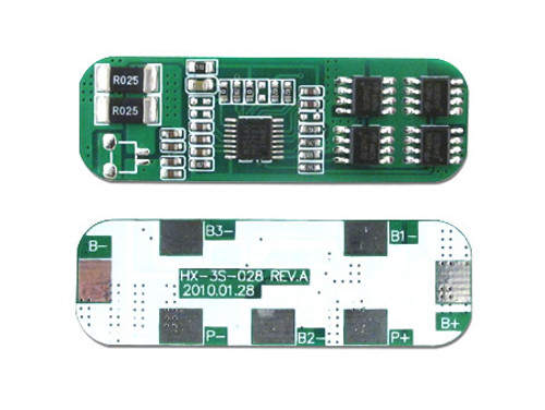 Protection Circuit Module [PCB] for 11.1V (3S) Li-ion Battery Pack (Cutoff 15A)