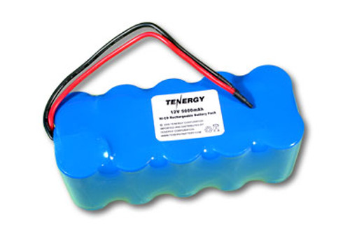 AT: Tenergy 12V 5000mAh NiCd Rechargeable Battery Pack  Pack (10S1P, 60Wh, 4A Rate, Rectangular Config.)