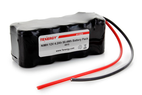 AT: Tenergy 12V 4200mAh NiMH Rechargeable Battery Pack (10S1P, 50.4Wh, 30A Rate)