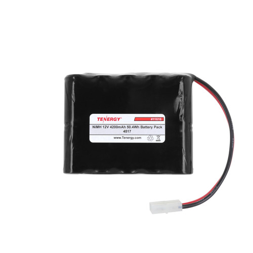 AT: Tenergy 12V 4200mAh NiMH Rechargeable Battery Pack (10S1P, 50.4Wh, 30A Rate, Tamiya, SBS Config)