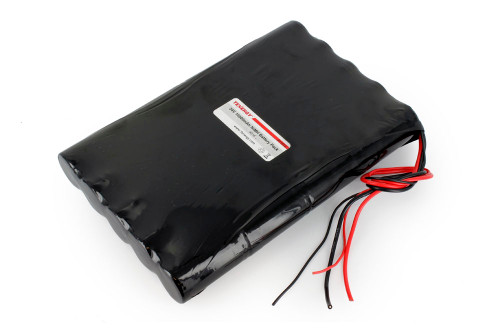 AT: Tenergy 24V 10000mAh NiMH Rechargeable Battery Pack (20S1P, 240.0Wh, 10A Rate, 2 Sets of Bare Leads, Flat Config.)