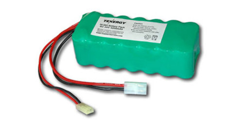 AT: Tenergy 24V 4200mAh NiMH Rechargeable Battery Pack (20S1P, 100.8Wh, 30A Rate, Standard + Mini Tamiya Connectors)