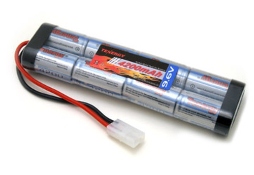 AT: Tenergy 9.6V 4200mAh NiMH Rechargeable Battery Pack (8S1P, 40.3Wh, 30A Rate, Tamiya Connector, Flat Config)