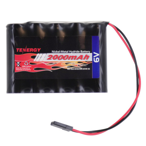 Tenergy NiMH 6V 2000mAh Side-by-Side Receiver Receiver Battery Pack w/ Hitec Connector for RC Aircrafts