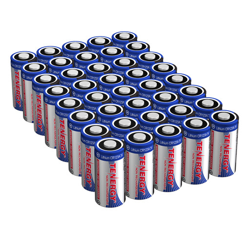 Combo: 40 Pcs Tenergy Propel CR123A Lithium Batteries with PTC Protected
