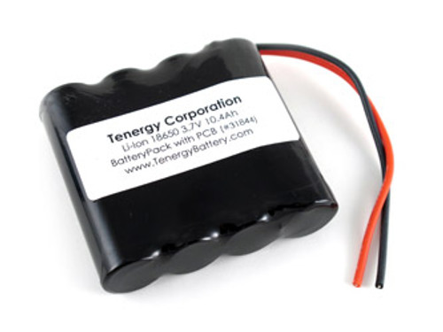 AT: Tenergy Li-ion 3.7V 10400mAh Side by Side Rechargeable Battery Pack w/ PCB (1S4P, 38.48Wh, 5.0A Rate )