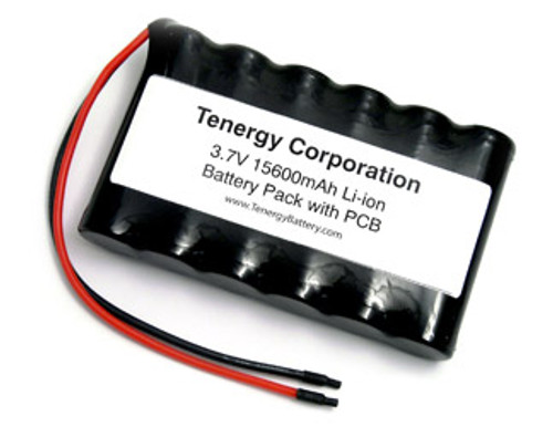 AT: Tenergy Li-Ion 3.7V 15600mAh Side by Side Rechargeable Battery Pack w/ PCB (1S6P, 57.72Wh, 8.5A Rate)
