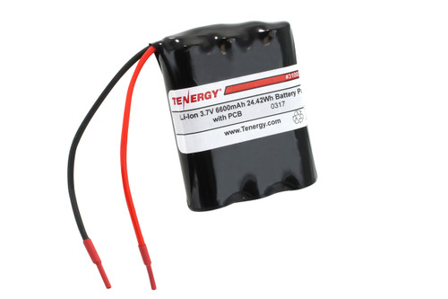 AT: Tenergy Li-Ion 3.7V 6600mAh Rechargeable Battery Pack w/ PCB (1S3P, 24.42Wh, 6A Rate)
