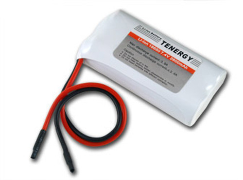Tenergy Li-Ion 7.4V 2600mAh Rechargeable Battery Pack w/ PCB (2S1P, 19.24Wh, 5A Rate)