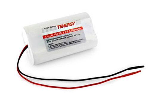Tenergy Li-Ion 3.7V 5200mAh Rechargeable Battery w/ PCB (1S2P, 19.24Wh, 6A Rate)