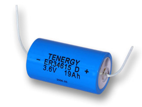 Primary Ultra High Energy Density Lithium Battery: D Size 3.6V 19 Ah (ER34615 / SAFT LSH20 ) With Wires (non Rechargeable) (DGR)