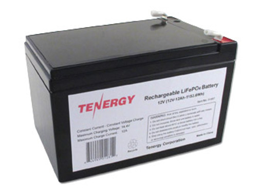 Tenergy 12.8V 12Ah LiFePO4 Rechargeable Battery (DGR-A)