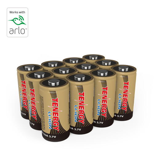 Rechargeable Batteries (12-Pack) Arlo Certified Li-ion 3.7V 650mAh for Arlo Smart Security Camera, UL & UN Certified, Bonus 3 Battery Cases