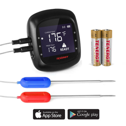 Tenergy Solis FT01 Smart Food Digital Thermometer (With 2 Stainless Steel Probes, Bluetooth, Wireless App Control)