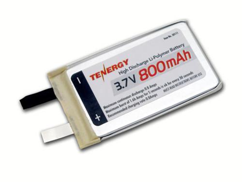 Tenergy Li-Polymer 3.7V 800mAh (383562) Battery - UL listed