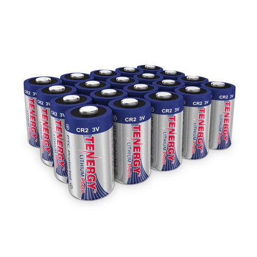 20 Pcs Tenergy Propel CR2 3V Lithium Battery with PTC Protection