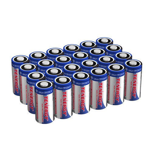 Combo: 24pcs Tenergy CR123A Lithium Battery with PTC Protected