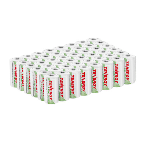 Tenergy Centura NiMH C 1.2V 4000mAh Rechargeable Batteries, 48-pack