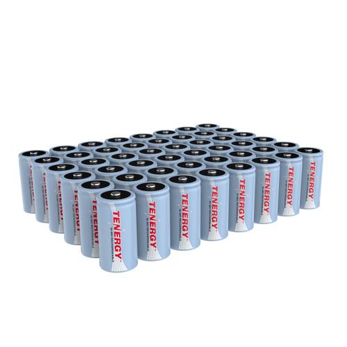 Tenergy NIMH C 1.2V 5000mAh Rechargeable Batteries, 48-pack