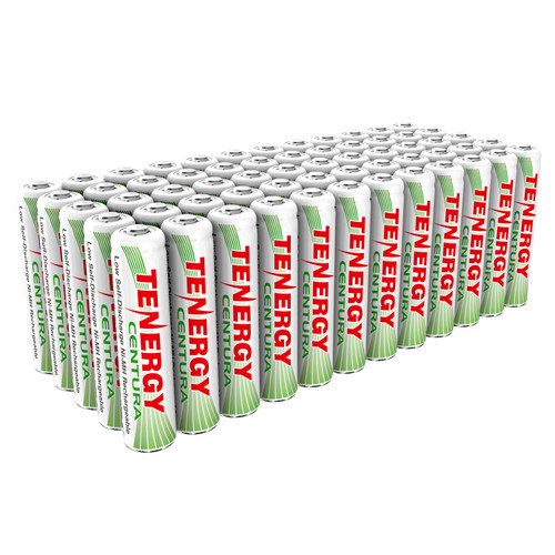 Combo: Tenergy Centura NiMH AAA 1.2V 800mAh Rechargeable Batteries, 60pc