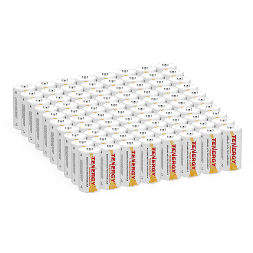 80pcs Tenergy D 5000mAh NiCd Button Top Rechargeable Battery