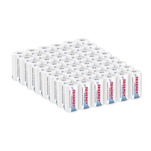 48pcs Tenergy Premium D 10,000mAh NiMH Rechargeable Battery