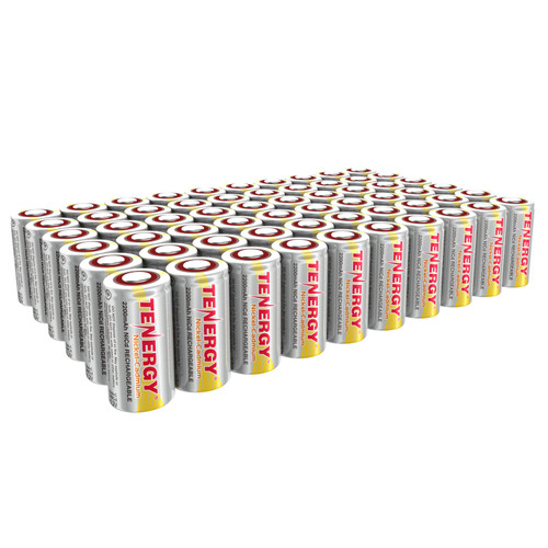 COMBO: 60 pcs of NiCd Sub C 2200mAh Batteries for Power Tools Flat Top No Tabs