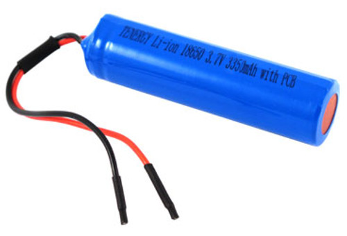 AT: Tenergy Li-ion 18650 3.6V 3500mAh Rechargeable Battery Pack w/ PCB (1S1P, 12.395Wh, 3.5A Rate)