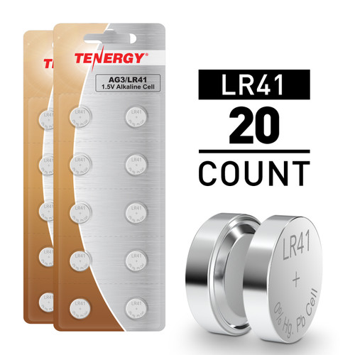 20pcs LR41 / AG3 1.5V Alkaline Button Cells