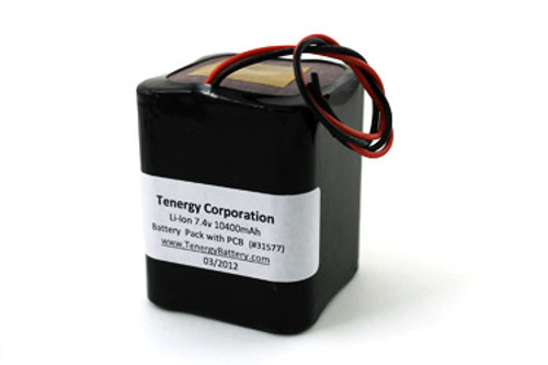 AT: Tenergy Li-ion 18650 7.4V 10,400mAh Rechargeable Battery Pack w/ PCB (2S4P, 76.96Wh, 5A Rate)
