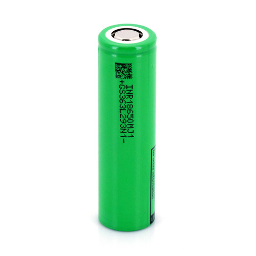 LG INR18650 MJ1 3.6V 3500mAh Rechargeable Flat Top Battery, 10A max/8A continuous, W/O PCB