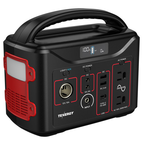 Tenergy T320 Portable Power Station, 300Wh Backup Lithium Battery