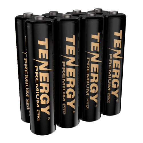 Tenergy Premium PRO Rechargeable AAA Batteries, High Capacity Low Self-Discharge 1100mAh NiMH AAA Battery, 8 Pack