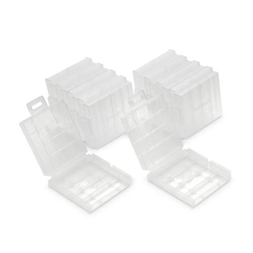 10 PCS Tenergy Plastic Battery Case for AA Size (Batteries sold separately)