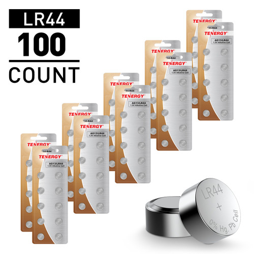 100 pcs AG13 / LR44 1.5V Alkaline Button Cells
