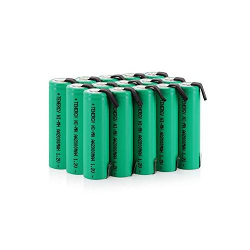 COMBO: 20pcs Tenergy AA 2000mAh NiMH Rechargeable Batteries w/ Tabs