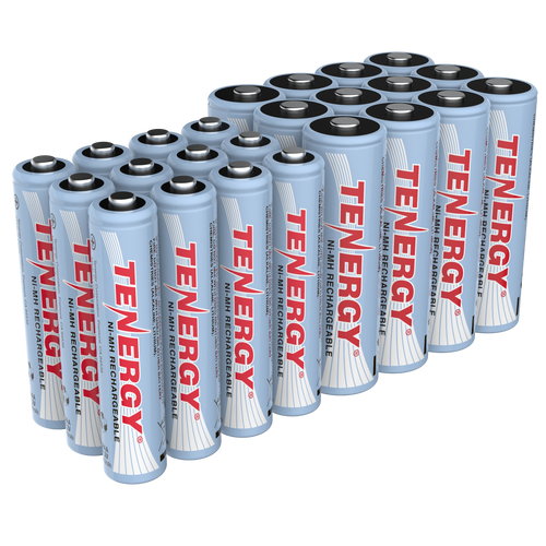 Combo: Tenergy NiMH  Rechargeable Batteries (12AA/12AAA)