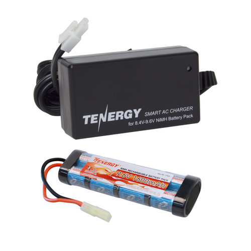 Combo: Tenergy Airsoft NiMH 9.6V 1600mAh Flat Battery Pack + Charger (#01026) Charger
